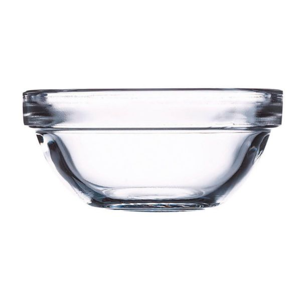 Bol vidrio 8cm apilable unidad
