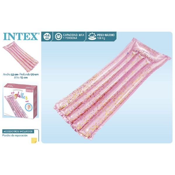 Colchoneta purpurina rosa-170x53x15