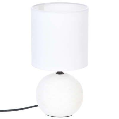 Lámpara de cerámica blanca H25