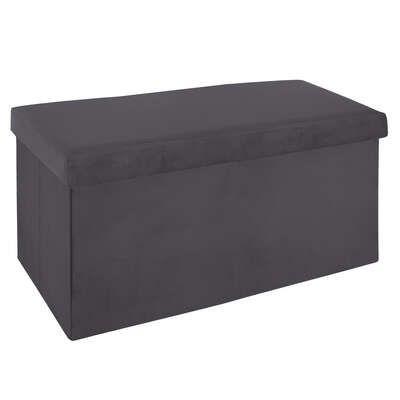 Puf plegable gris oscuro de 2 plazas
