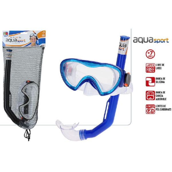 Set Mascara + Tubo Buceo Junior Bol