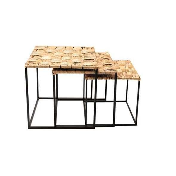 TABLES D'APPOINT TRESSEES 3 TAILLES