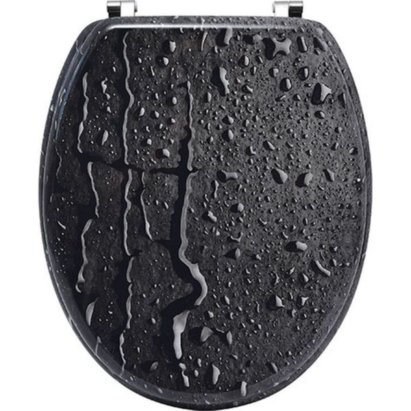 Tapa wc mdf - efecto gota de agua